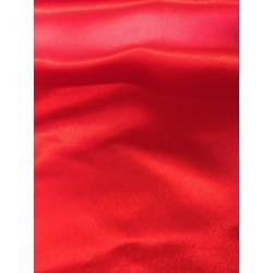 Tissu satin rouge x 50cm