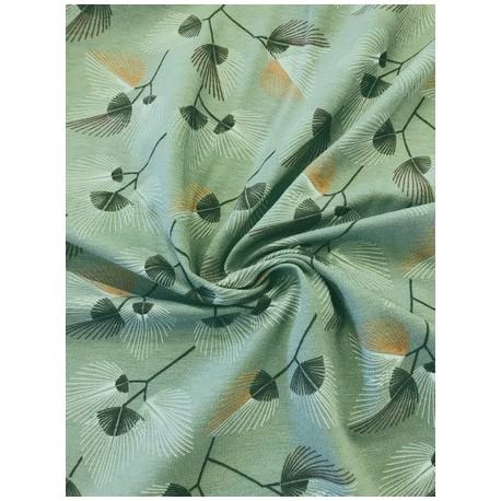 Jersey motif feuilles x 50cm