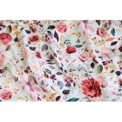 Jersey imprimés floral blanc x 50cm