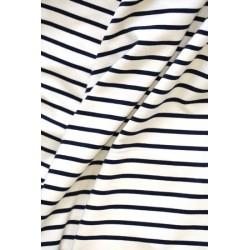 Jersey marinière écru x50cm