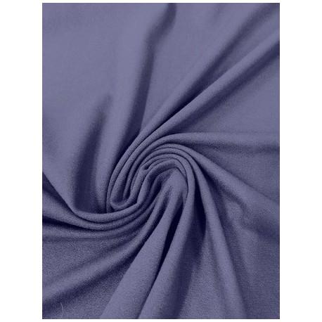 Tissu crêpe jersey bleu marine x 50cm