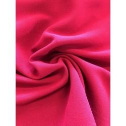 Tissu crêpe fuchsia x 50cm