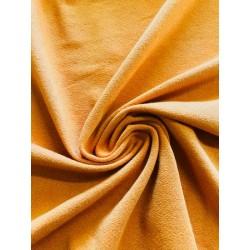 Tissu crêpe jersey ocre x 50cm