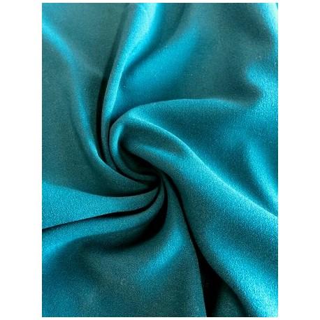 Tissu crêpe bleu pétrol x 50cm