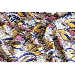 Viscose feuillage coloris sable x50cm