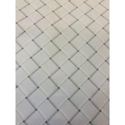Velours effet graphique blanc x 50cm
