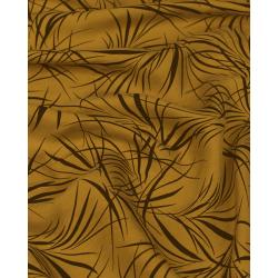 Viscose exotique fond marron x 50cm