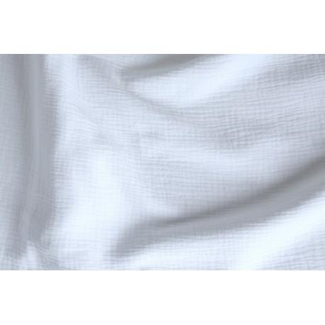 Double gaze de coton blanc x 50cm