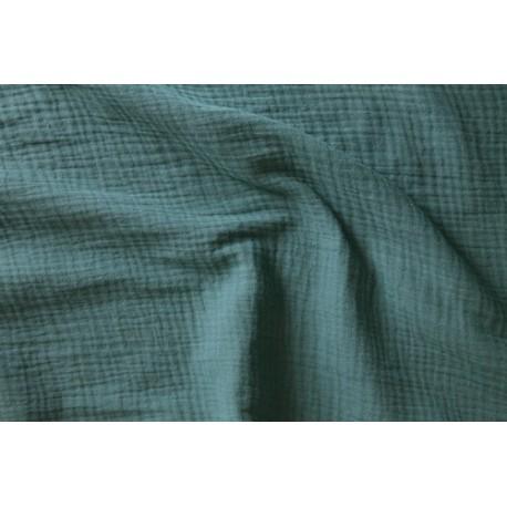 Double gaze de coton eucalyptus x 50cm