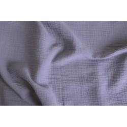 Double gaze de coton lilas x 50cm
