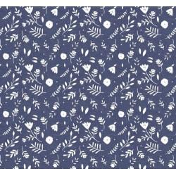 Tissu jeans floral x 50cm