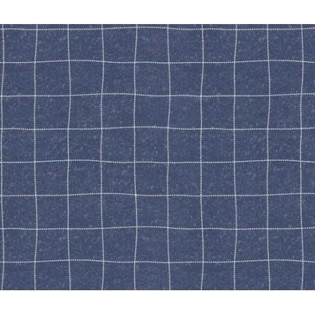 Tissu jeans carreaux x 50cm