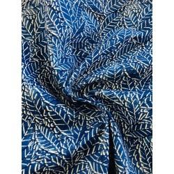 Coton motif plumes x 50cm