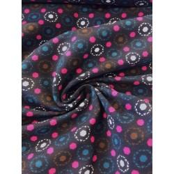 Jersey motif cercles graphiques x 50cm