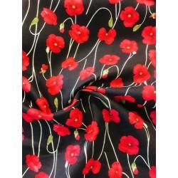Coton motif coquelicots x 50cm