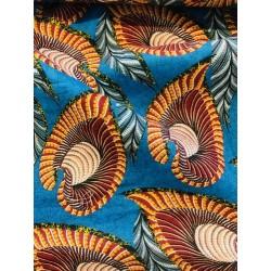 Lin motif feuilles x 50cm