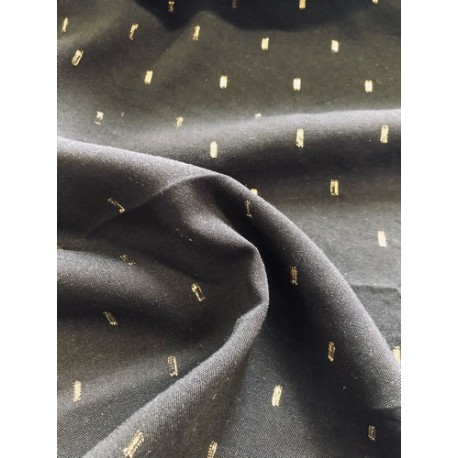 Rayonne noir détails dorés x 50cm