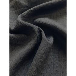 Rayonne noir aspect gauffré x 50cm