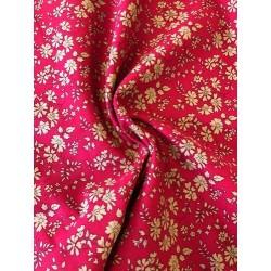 """Tissu liberty """"Capel"""" rouge x 50cm"""