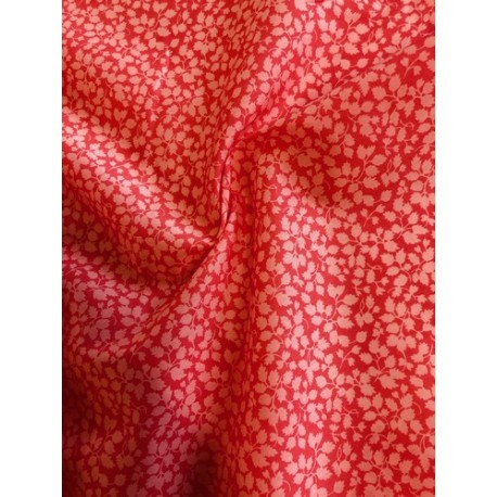 "Tissu liberty ""Glenjade"" corail x50cm"