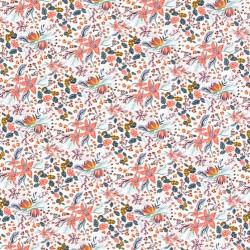 """Tissu Liberty """"Beach Blossom"""" rose poudré x 50cm"""