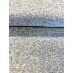Bord côte gris clair chiné x 50cm