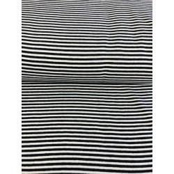 Bord côte rayures noir et blanc x 50cm