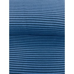 Bord côte rayures bleu marine x 50cm