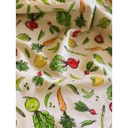 Faux lin motif végétal x 50cm