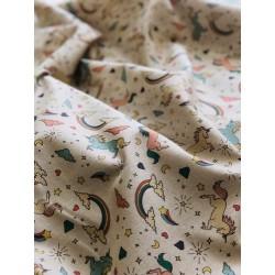 Tissu faux lin licorne x 50cm