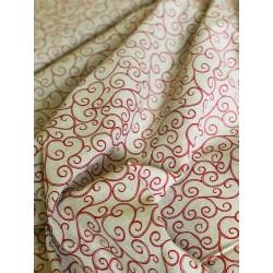 Tissu faux lin arabesque x 50cm