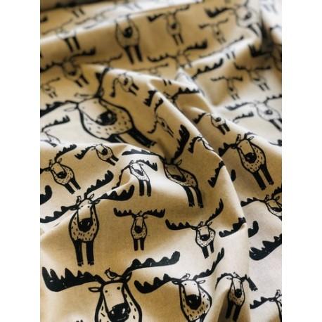 Faux lin motif cerf x 50cm