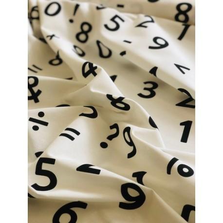 Faux lin motif chiffres x 50cm