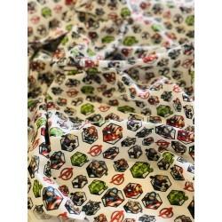 Tissu coton Avengers personnages petit format x 50cm