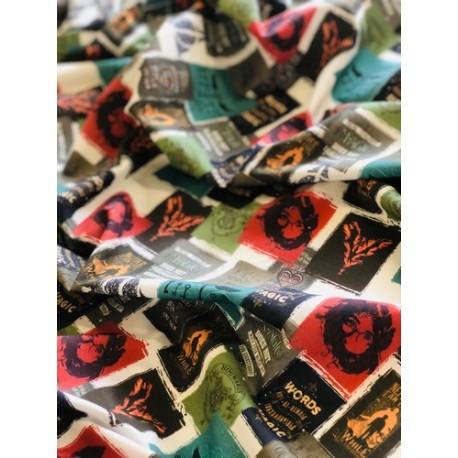 Tissu coton Harry potter - Affiches x50cm