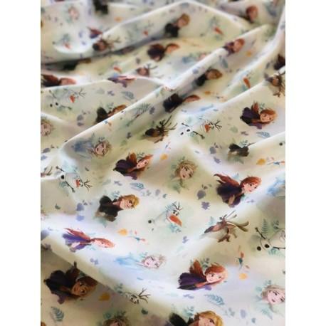 Tissu coton Reine des neiges x 50cm