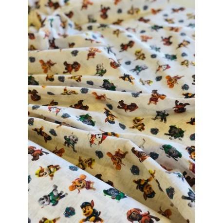 Tissu coton Pat Patrouille x 50cm