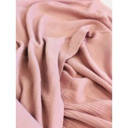 Double gaze de coton rose x 50cm