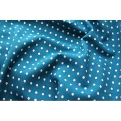 Viscose motif pois bleu x 50cm