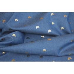 Jeans léger motif arc-en-ciel x 50cm