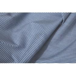 Jeans léger bleu clair motif fine rayures x 50cm
