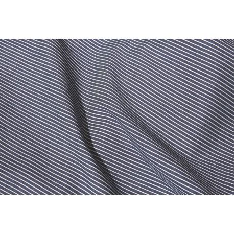 Jeans léger bleu foncé motif fine rayures x 50cm