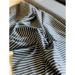 Jeans léger bleu clair motif rayures x 50cm