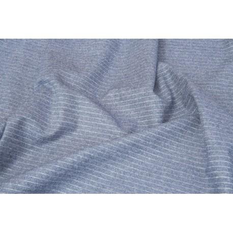 Jeans léger bleu foncé rayé x 50cm