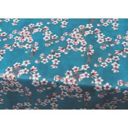 Tissu enduit fleurs de cerisier x50cm
