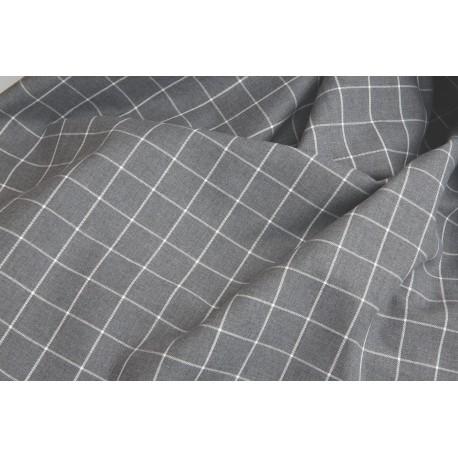 """Tissu carreaux """"Gris"""" x 50cm"""
