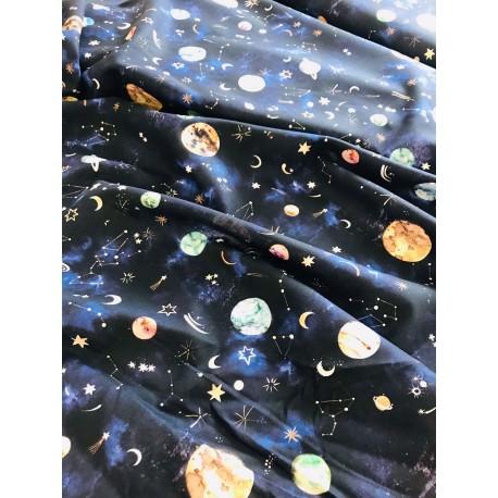 "Popeline ""New galaxy"" x 50cm"