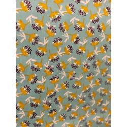 Tissu enduit floral x 50cm