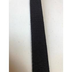 Sangle coton noir 2.5cm x 1m