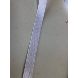 Sangle coton blanc 2.5cm x 1m